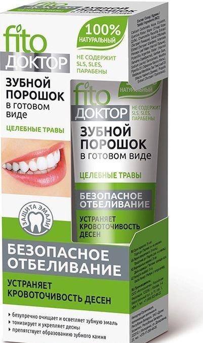 Fito Доктор Зубной порошок в готовом виде Целебные Травы, 45мл