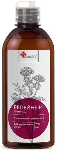 Репейный шампунь с комплексом витаминов для укрепления волос, 250 ml Apotek's