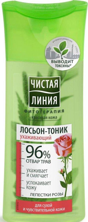 ЧЛ Лосьон-тоник для сухой и чувствительной кожи Лепестки Розы, 100мл Чистая Линия