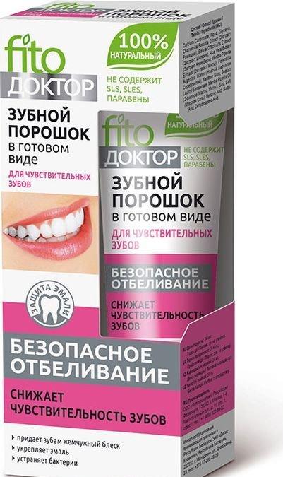 Fito Доктор Зубной порошок в готовом виде Безопасное Отбеливание, 45мл