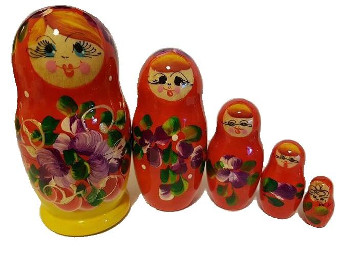S . 33 - Матреша 11 см 5 кукол