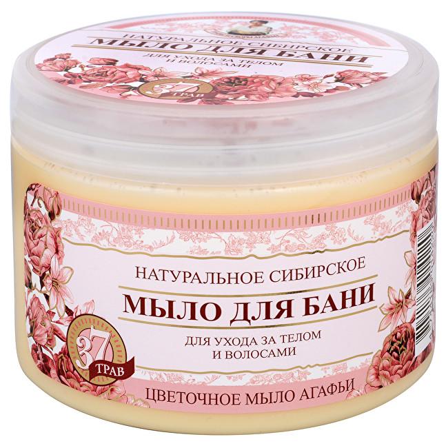 РБА Натуральное Сибирское цветочное мыло для ухода за телом и волосами, 500мл Травы и сборы Агафьи