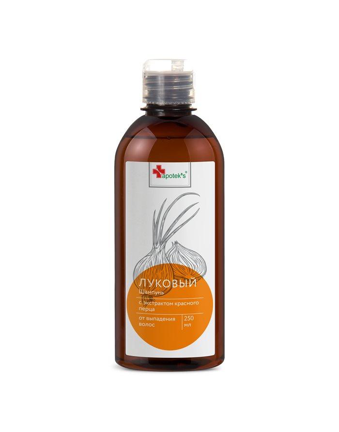 Луковый шампунь с экстрактом красного перца от выпадения волос, 250мл Apotek's