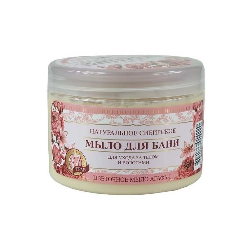 РБА Цветочное Натуральное Сибирское мыло для бани 37 трав, 500мл