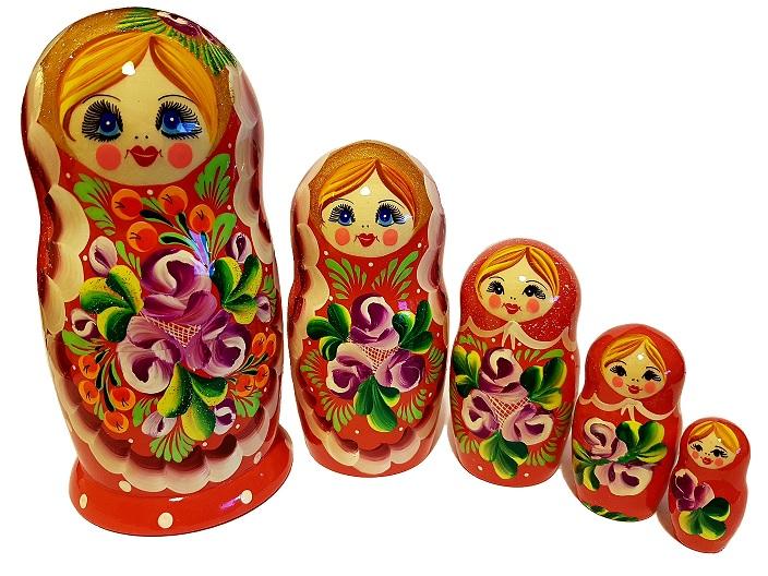 S. 14 - Матрёшка 17см, 5 кукол