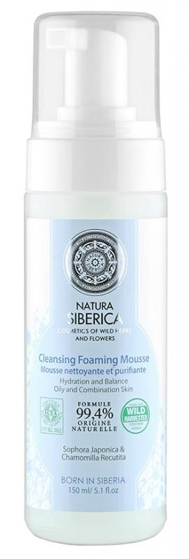 NS Очищающий пенящийся мусс для умывания для жирной и комбинированной кожи, 150мл